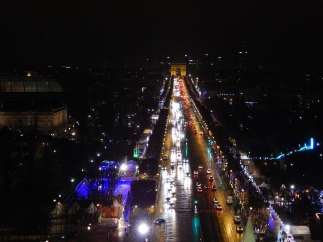 Vista da Roda Gigante, na Champs-Élysées