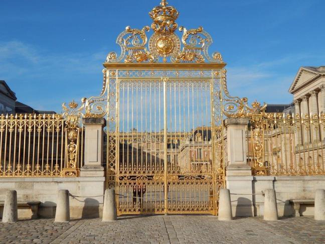 Château de Versailles - vista externa do portão principal