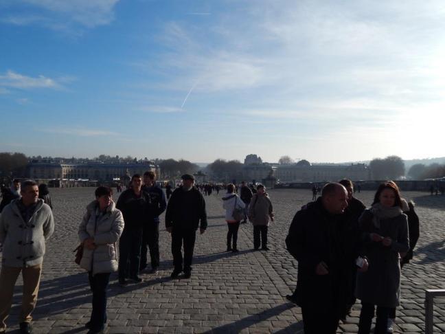 Château de Versailles - calcadão da entrada