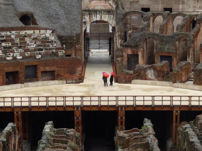 Coliseu - Vista interna com detalhe