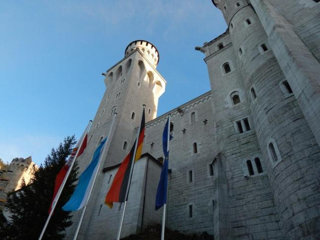 Castelo de Neuschwanstein, vista lateral