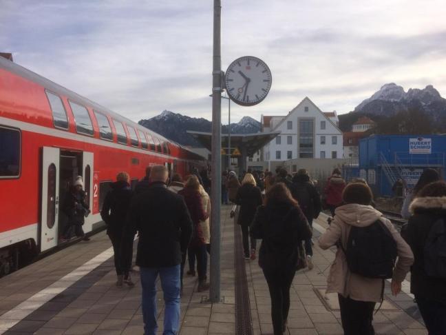 Desembarque na estação de Füssen