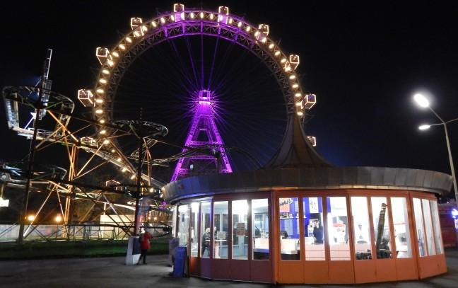 Famosa roda-gigante de Viena, no bairro Prater - Wiener Riesenrad