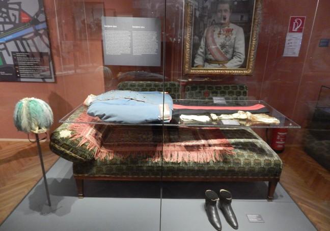 Uniforme completo que Franz Ferdinand usava naquele dia