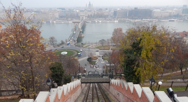 Vista do Funicular - Budapeste-Hungria