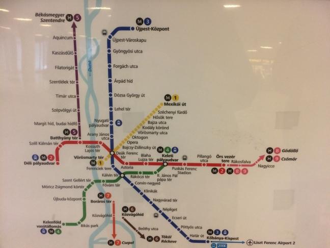 Mapa do Metrô - Estação Keleti - Budapeste-Hungria