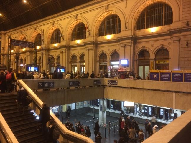 Estação Keleti, vão principal - Budapeste-Hungr