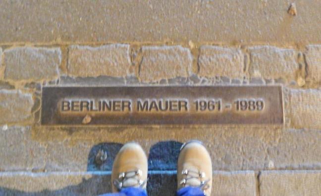Lembrete da existência do Muro de Berlim